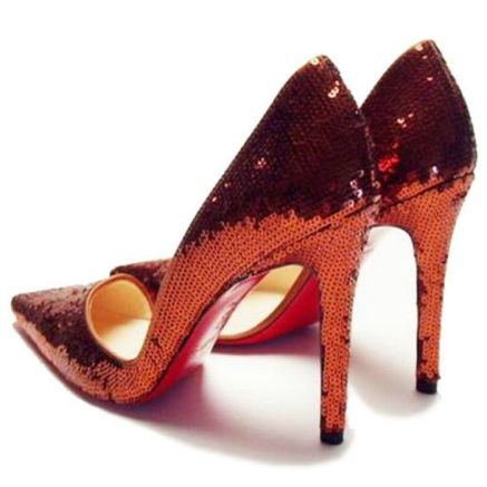 Christian Louboutin Pigalle Pumps 100mm Glitter Red-RdF_02
